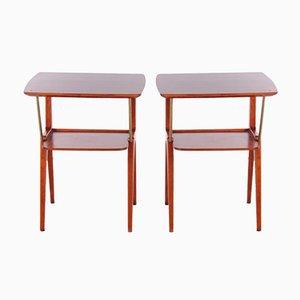 Tables de Chevet Vintage, Danemark, 1960, Set de 2