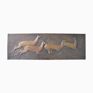 Mid-Century Kupfer Antilope von Amaranto, 1960er