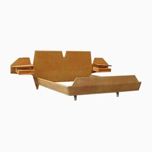 Maple Bed by by Silvio Cavatorta, Italy, 1950s