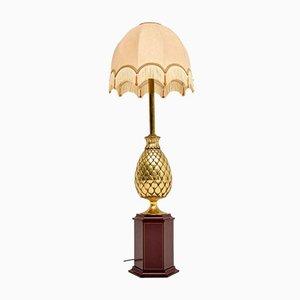 Französische Vintage Messing Tischlampe, 1970er