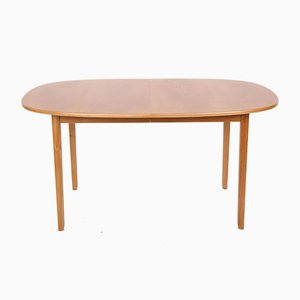 Elm Dining Table by Ole Wanscher for Poul Jeppesens Møbelfabrik