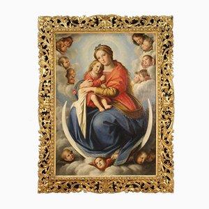 Antike italienische Malerei, 19. Jh., Öl auf Leinwand, gerahmt