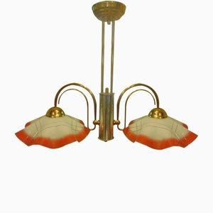 Lampe Lustre Vintage en Laiton