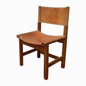 Vintage Scandinavian Leather Safari Chair
