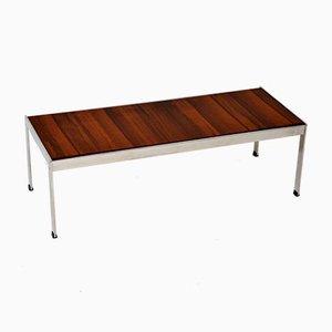 Wood & Chrome Coffee Table from Merrow Associates, 1970s