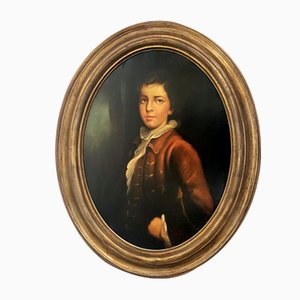 Nicola De Marco, Young Noble, 1990s, Oil on Canvas, Framed
