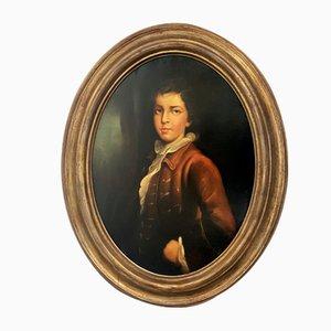 Nicola De Marco, Young Noble, anni '90, olio su tela, con cornice