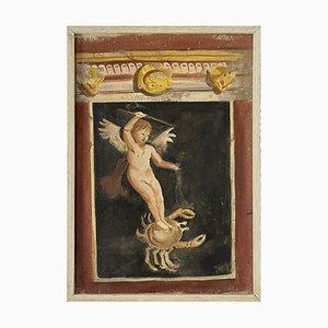 Pompeian Allegory, Fresco on Canvas, Framed