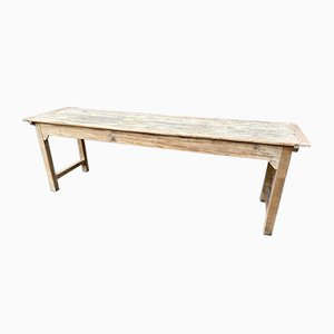 Large French Farmer Fir Dining Table, 1900s