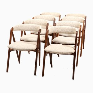 Teak Dining Chairs by Th. Harlev for Farstrup Furniture, 1960s, Set of 8