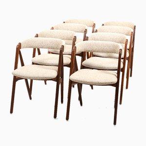 Teak Esszimmerstühle von Th. Harlev für Farstrup Furniture, 1960er, 8er Set