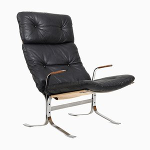 Siesta Armrests Lounge Chair in Steel by Ingmar Relling for Westnofa, 1970s