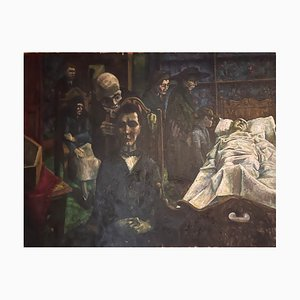 Morby Eric John, The Greedy and Hunchbacked Heirs in the Dying Room, Oil on Canvas