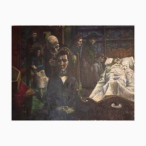 Morby Eric John, The Greedy und Hunchbacked Erben im Sterbenden Raum, Öl auf Leinwand