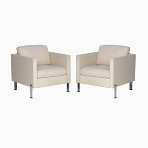 DS-118 Leather Lounge Chairs by De Sede, Set of 2