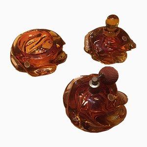 Decorativos de baño de cristal de Murano. Juego de 3
