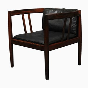 Rosewood Lounge Chair & Ottoman by Illum Wikkelsø & Holger Christiansen, Set of 2