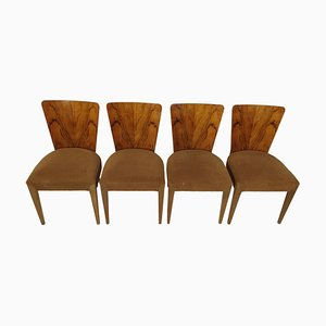 Art Deco Dining Chairs by Jindřich Halabala, 1940s, Set of 4