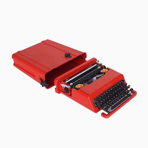 Italian Red Valentine Typewriter by Ettore Sottsass & Perry King for Olivetti, 1970s