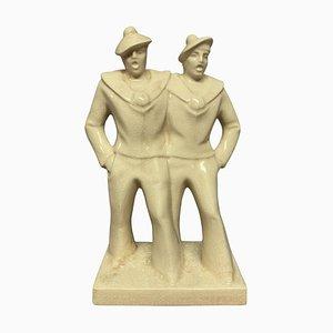 Sculpture de Marin Art Déco en Céramique, 1930s