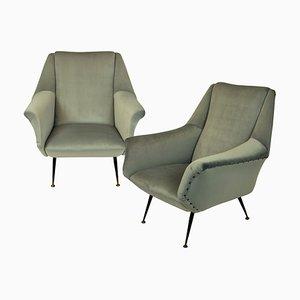 Mid-Century Beech Armchairs, Set of 2