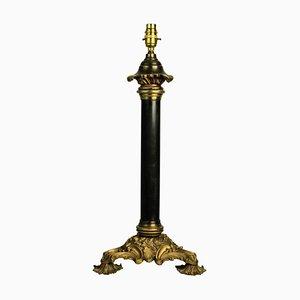 Antike englische Tischlampe aus Bronze und Ormolu