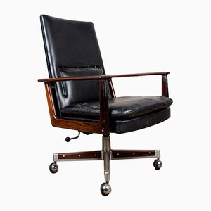 Large Rio Rosewood & Leather Desk Armchair Model 419 by Arne Vodder for Sibast, 1960