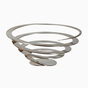 Stainless Steel Twisted Fruit Bowl by Jacob Borch for Excel, Denmark
