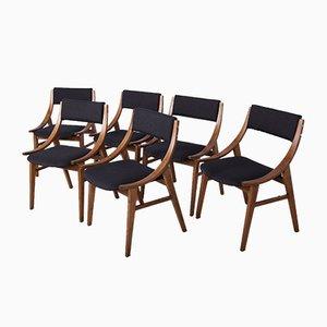 Polnische Ski Jumper Stühle von Zamojska Furniture Factory, 1970er, 6er Set