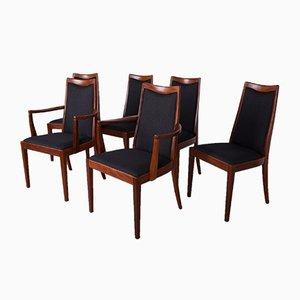 Mid-Century Esszimmerstühle aus Teak & Leder von Leslie Dandy für G-Plan, 1960er, 6er Set
