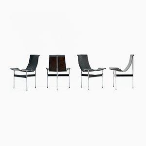 T-Chairs by Katavolos, Littell & Kelley for Icf De Padova, 1952, Set of 4