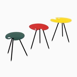 Tavolini di Lucien De Roeck per Wood Manu, anni '50, set di 3