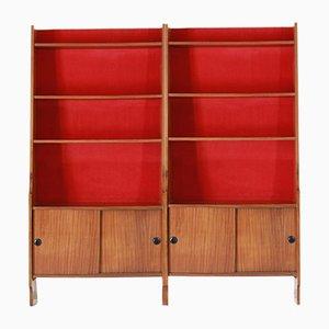 Librería modular vintage, años 60