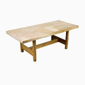 Großer Tisch aus Kiefernholz von Rainer Daumiller, 1960er