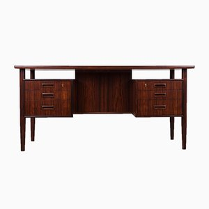 Freistehender Palisander Schreibtisch von Arne Vodder, 1960er