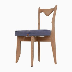 Mid-Century French Oak Chairs by Guillerme et Chambron, Set of 6