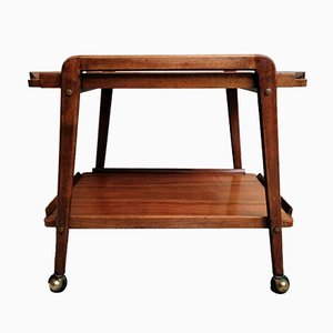 Mahogany Serving Trolley with Removable Tray by Cesare Lacca