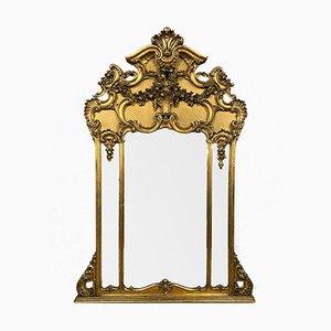 Louis XV Spiegel aus goldenem Holz, 1850er