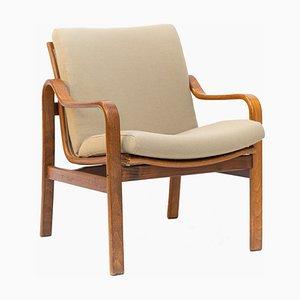 Bugholz Sessel mit Wollbezug