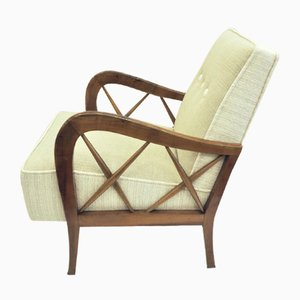 Armchairs and 2-Seat Canape by Paolo Buffa, Set of 3
