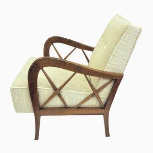Butacas y canapé de dos plazas de Paolo Buffa. Juego de 3