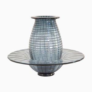 Große Vase und Conca aus Muranoglas von Paolo Crepax, 2er Set