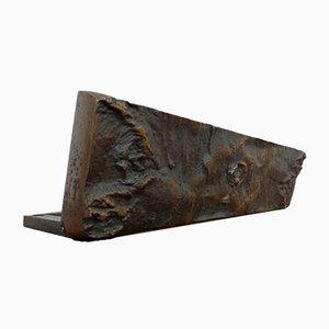 French Brutalist Bronze Letter Box, 1960s