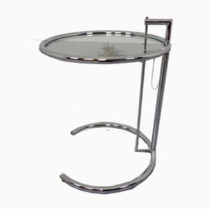 Glass Adjustable E1027 Side Table by Eileen Gray for Classicon, 1940s