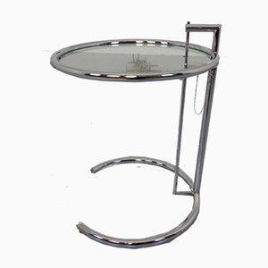 Mesa auxiliar E1027 ajustable de vidrio de Eileen Gray para Classicon, años 40