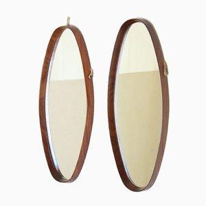 Scandinavian Mirrors in Teak, 1960s, Set of 2