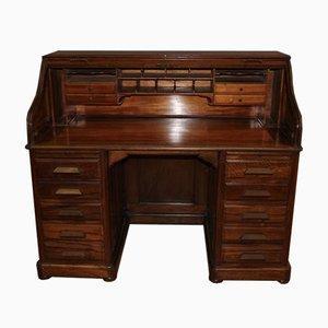 Amerikanischer Schreibtisch aus Nussholz, 1900er