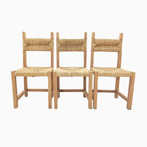 Dining Chair in Pine and Vegetable Fiber Rope, France, 1960s