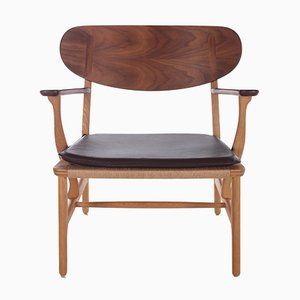 Mid-Century Danish Model Ch22 Lounge Chair by Hans J. Wegner for Carl Hansen & Son