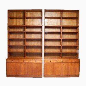 Freistehendes Bücherregal von Bertil Fridhagen, Schweden, 2er Set